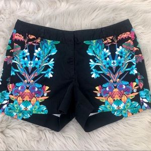 Nicole by Nicole Miller Black Floral Shorts. 6